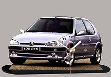 AUTO PEUGEOT 106 S16 -02, AUTO IN OROLOGIO MINIATURA