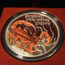 Deadly and Dangerous – Spider-Hunting Scorpion 2014 1oz Silver Proof Coin