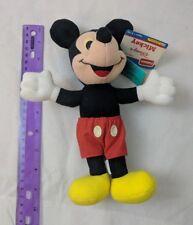 "Playskool Disney Babies Mickey Mouse 9"" Plush Vintage 1980s w) Tags"