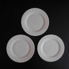 3 assiettes plates ceramic porcelaine BONE China WEDGWOOD art déco ENGLAND N4255