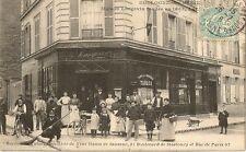 CARTE POSTALE BAR TABAC BOULOGNE SUR SEINE MAISON LANGEVIN FONDEE EN 1865