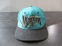 VINTAGE Florida Marlins Hat Cap Fitted Size 6 7/8 Teal Black MLB Baseball 90s *