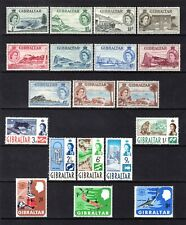 GIBRALTAR 1953 TO 1967 MOUNTED MINT RANGE WITH HINGE REMAIN CAT £43
