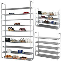 5/10 Tier Free Standing Shoes Tower Rack Metal Storage Organizer Space Saving US