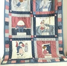 Humpty Dumpty Jack and Jill Nursery Bedding Rhyme Lap Throw Quilted Blanket