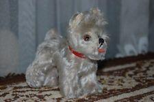 Steiff 1950s Mohair Dog Gray Schnauzer Tessie 1314,0 14 CM Silver Button