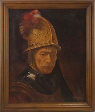 8360117 Öl-gemälde Firmato Kleinschmidt Copia Uomo con Goldhelm dopo Rembrandt