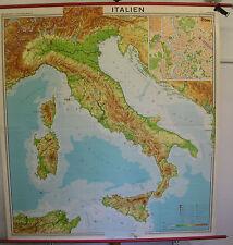 Schulwandkarte map Italien Italy Alpen Alpi Alps Rom Roma Mittelmeer 194x209cm
