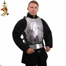 Medieval Knight steel Gothic cuirass Warrior Larp Breastplate Front & Back