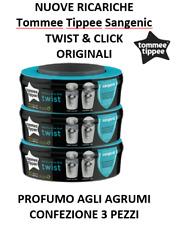 SANGENIC TOMMEE TIPPEE 3 RICARICHE TWIST & CLIC - TEC - ORIGINALE - NUOVO AGRUMI