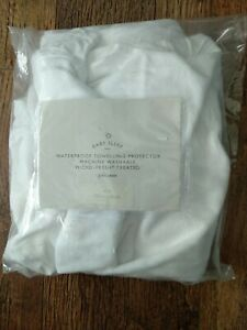 """JOHN LEWIS  whitewaterproof towelling fitted protector 47"""" x 24"""" new"""
