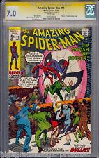 AMAZING SPIDER-MAN #91 CGC 7.0 SS STAN LEE SIGNED CGC #1197729018  dns