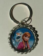 ANNA & OLAF, Disney's FROZEN, Bottle Cap on Key Ring
