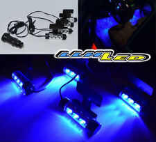 4 x Blue LED Car Charge DC 12V Glow Interior Floor Decorative Atmosphere Lights