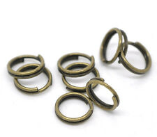 500 ANTIQUE BRONZE DOUBLE SPLIT RINGS 6mm x 0.5mm CHARMS~PENDANTS~SEWING (97C)
