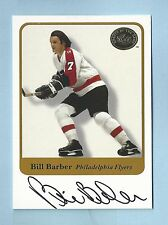 BILL BARBER 2001 FLEER GREATS OF THE GAME SIGNATURE AUTOGRAPH AUTO