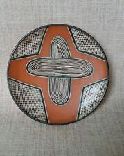 Rare Carl Cooper dish. Abstract aboriginal design.