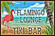 *TIKI BAR FLAMINGO LOUNGE* ALL WEATHER METAL SIGN 8X12 HAWAII MADE HAPPY HOUR