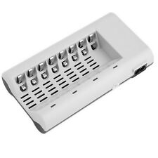 Battery Charger for 8 AA or AAA Batteries Rechargeable 8 slots Ni-MH / Ni-Cd UK