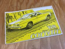 1968 CHEVROLET CORVAIR CORSA GENUINE OWNERS MANUAL 1ST EDITION GM