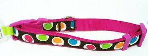 TOP PAW Pink Groovy Dot Dog Collar (Large) (NEW)