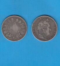 // 5 Francs argent Louis-Philippe Laurée Tranche en creux 1831 Toulouse RARE