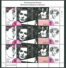 Ireland 2020 Pioneering Women sheetlet 1A ,imprint block & colour codes MNH