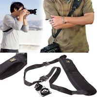 Quick Rapid Camera Shoulder Neck Strap Sponge Pad Belt Sling For SLR DSLR Nikon