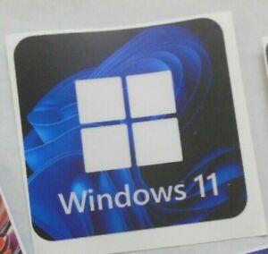 "Window 11 Sticker for Desktop Laptop  Badge /Decal  size 3"" x 3""  Clear Vinyl"