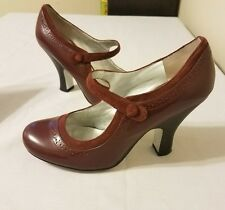 Jessica Simpson Women's 'Fraggle' Mary Jane Pump Maroon Size 7.5B