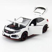 1:32 Honda Civic Type R Model Car Diecast Gift Toy Vehicle Kids White Sound