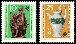 EBS East Germany DDR 1985 - Leipzig Spring Fair - Michel 2929-2930 MNH**