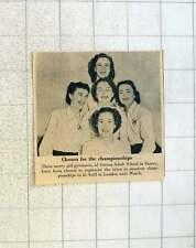 1955 Girl Gymnasts Sutton Adult School Surrey Represent Town