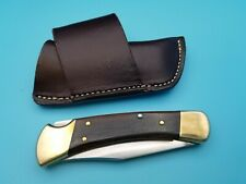 USA made Brown Side Draw Bridal Leather Knife Belt Sheath For Buck 110 Folder