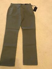 NWT  NYDJ Not Your Daughters Jeans DARK OLIVE GREEN Straight Leg Size 0P