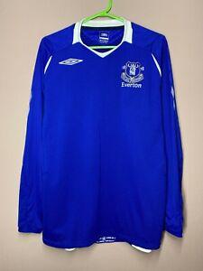Everton 2008-2009 Home Football Shirt Long Sleeve Soccer Jersey size M