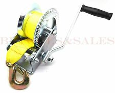 1200lb Hand Winch Hand Crank Strap Heavy Duty Winch ATV Jet Ski Trailer Boat NEW