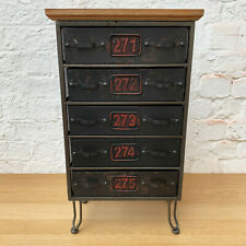 Industrial Vintage Cabinet Cupboard Sideboard Storage Unit Chest Of 5 Drawers