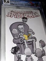 Amazing Spider-Man #14 MARVEL 2014 S. Young C2E2 B&W CGC 9.6 | STAN LEE TRIBUTE