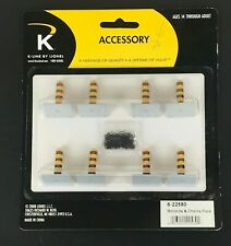K-Line 6-22580 O Scale Bollards & Chains Building Accessory Kit (8 Pieces) NEW