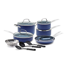 Blue Diamond Pan CC001951-001 Cookware-Set, 14pc, Blue