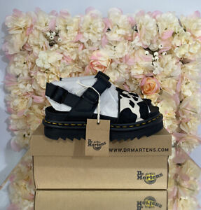 Dr Martens Leather Voss Animal Cow Print, UK 4, BRAND NEW, Discontinued, RARE