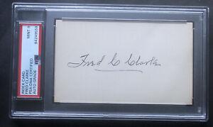 Fred Clarke Signed Index Card. PSA