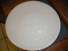 """ARLINGTON 11 1/2""""  White Raised Bunny Rabbit Dinner Plate (s)"""