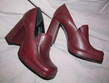 Steve Madden Lavena Women's 5.5B Wine Leather Platform Loafers New Deadstock