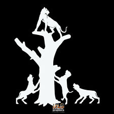 COUGAR HUNTER Vinyl Sticker Bow Hunting Mountain Lion PUMA Hounds Treeing