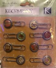 K & Company Scrapbooking Brenda Walton Brookfield Paper clips Metal Art  New