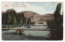 uralte AK Trebinje - Brücke und Bahnstation Feldpost 1914 //01