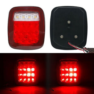 12V 16LED Universal Stud Mount Car Truck Stop Turn Signal Light Rear Brake Lamps