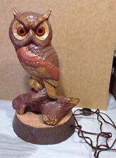 Vintage Ceramic OWL  TV Lamp Accent Lamp large sice Halloween decor